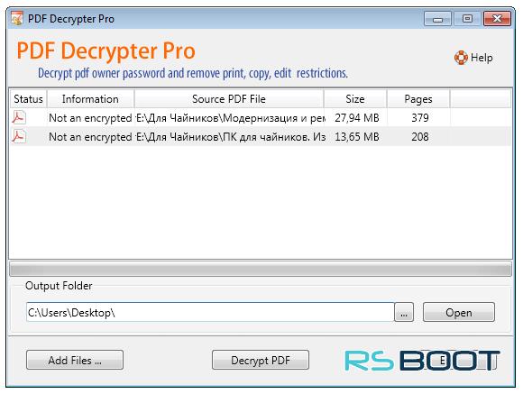 Скачать PDF Decrypter Pro 4 2 0 (Windows / Mac) с ключом